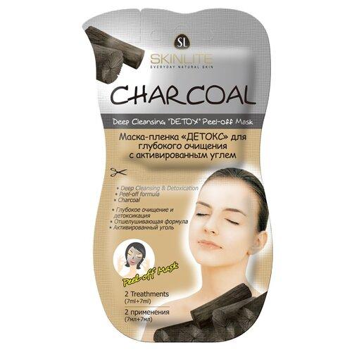 Skinlite маска-пленка Детокс для глубокого очищения с активированным углем, 14 мл avene маска для глубокого очищения купить