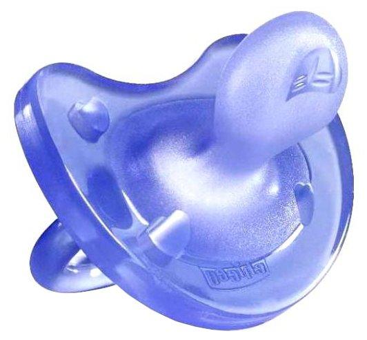 Пустышка силиконовая ортодонтическая Chicco Physio Soft 12+ (1 шт)