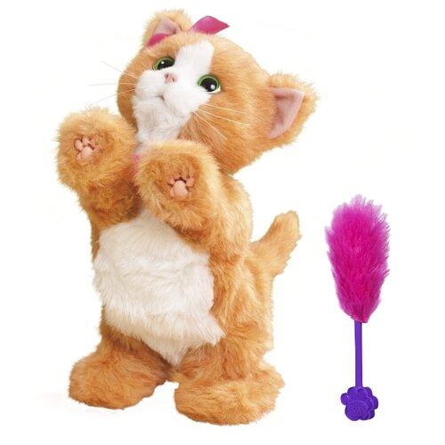 Интерактивная мягкая игрушка FurReal Friends Котенок Дэйзи белый/коричневый интерактивная мягкая игрушка furreal friends счастливый рыжик e4649 коричневый белый