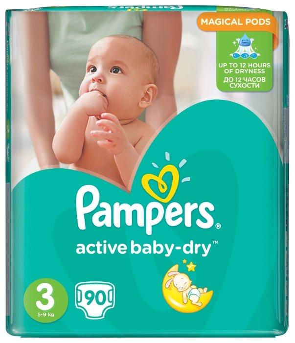 db1ed0741b63 Купить Pampers подгузники Active Baby-Dry 3 (5-9 кг) 90 шт. в Минске ...