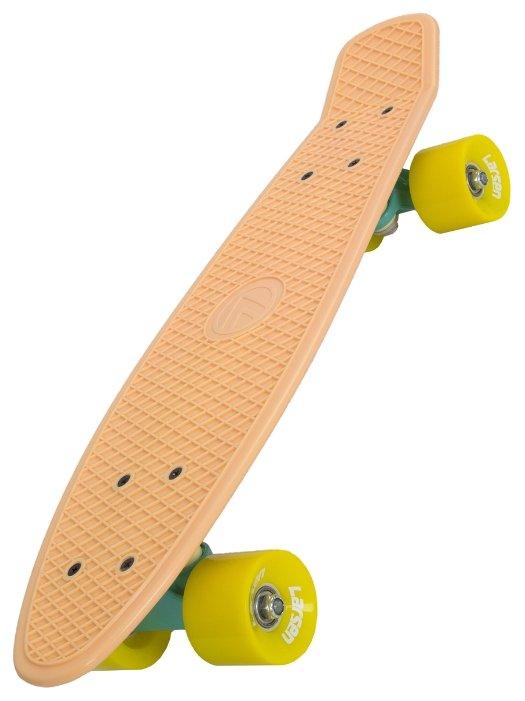 Скейтборд LARSEN Teen 1, цвет: оранжевый