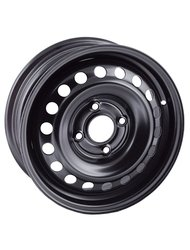 Диски R14 5x100 5,0J ET35 D57,1 Magnetto 14016 black VW Polo - фото 1