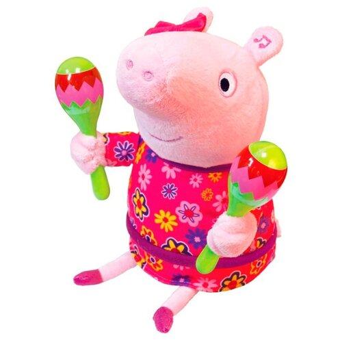 Купить Мягкая игрушка РОСМЭН Peppa pig Пеппа с маракасами 30 см, Мягкие игрушки