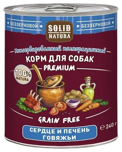 Корм для собак Solid Natura Premium для собак - Сердце и печень