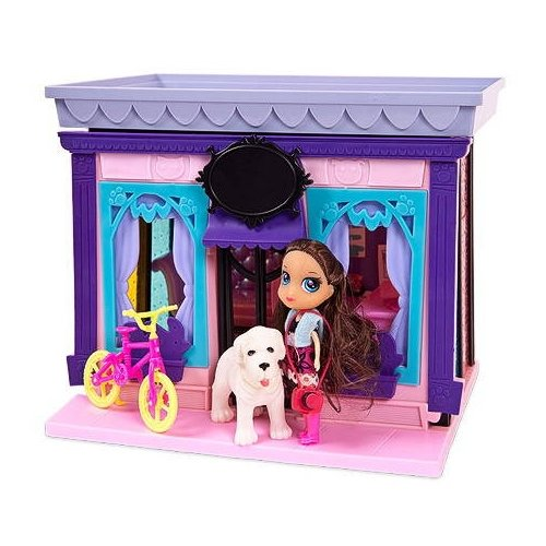 Купить ABtoys Модный дом PT-00847, розовый/фиолетовый, Кукольные домики
