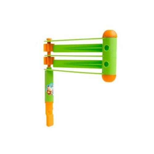 Купить Пластмастер трещотка Фанат 16043 зеленый/оранжевый, Детские музыкальные инструменты
