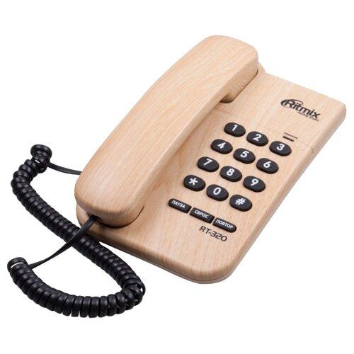 Телефон Ritmix RT-320 light wood
