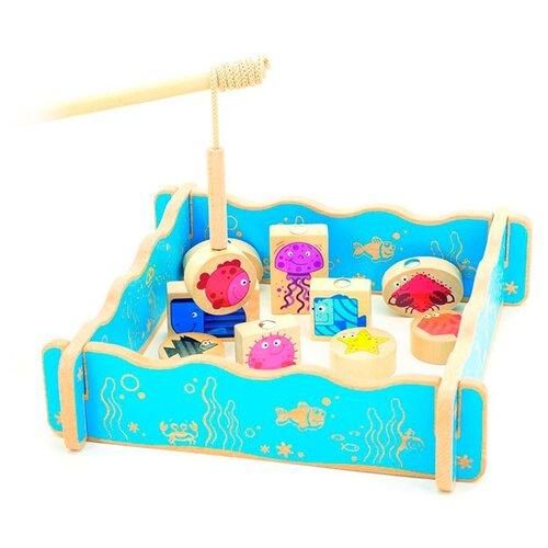 цена на Бирюлька Мир деревянных игрушек Рыбалка разноцветный