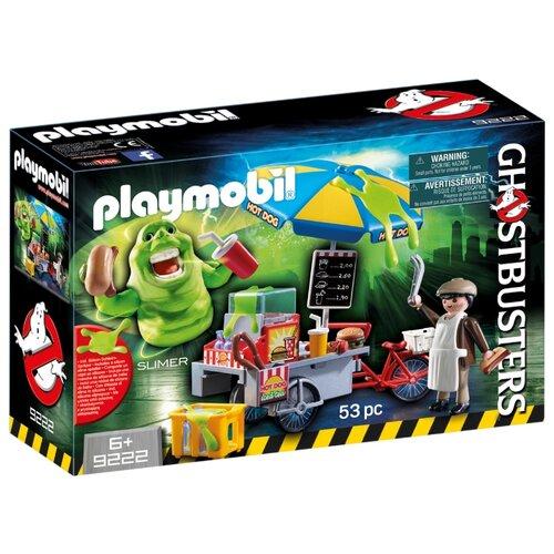 Набор с элементами конструктора Playmobil Ghostbusters 9222 Лизун и тележка с хотдогами набор с элементами конструктора playmobil city life 9078 шопинг торговый центр