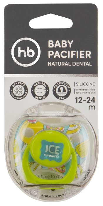 Пустышка силиконовая анатомическая Happy Baby Baby Pacifier 12-24 м (1 шт)
