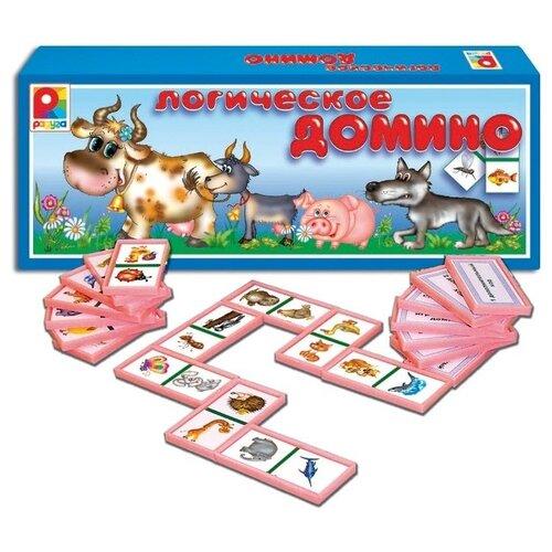 Купить Настольная игра Радуга Логическое домино Животные С-534, Настольные игры