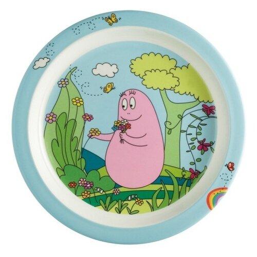 Фото - Тарелка Petit Jour Paris Barbapapa (BA905), голубой/зеленый посуда petit jour набор детской посуды barbapapa ba964c