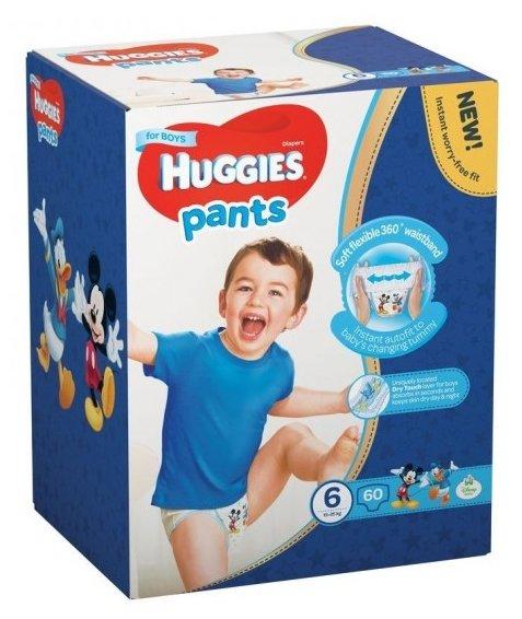 Huggies трусики для мальчиков 6 (15-25 кг) 60 шт.