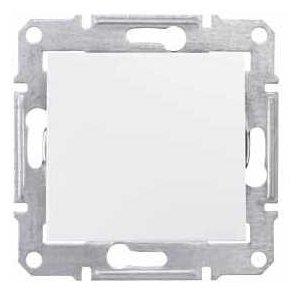 Выключатель 1-полюсный Schneider Electric SEDNA SDN0100121, 10А , белый