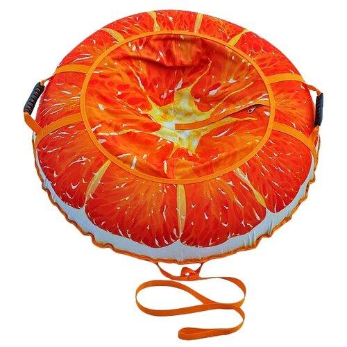 Купить Тюбинг Митек Сочный Апельсин 110 см оранжевый, Тюбинги
