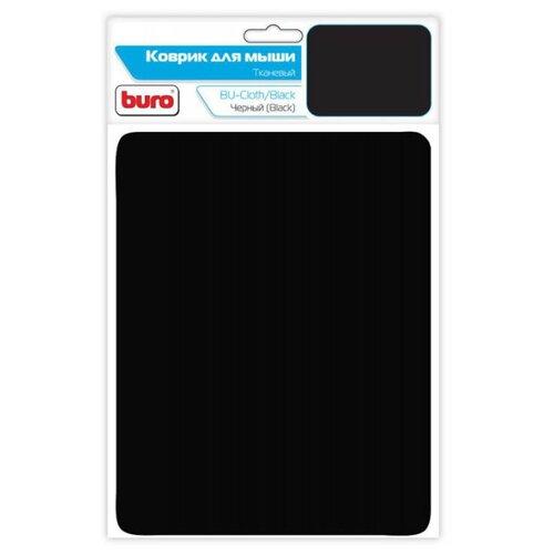 Коврик Buro BU-CLOTH (549287/539382/817302/817303) черныйКоврики для мыши<br>