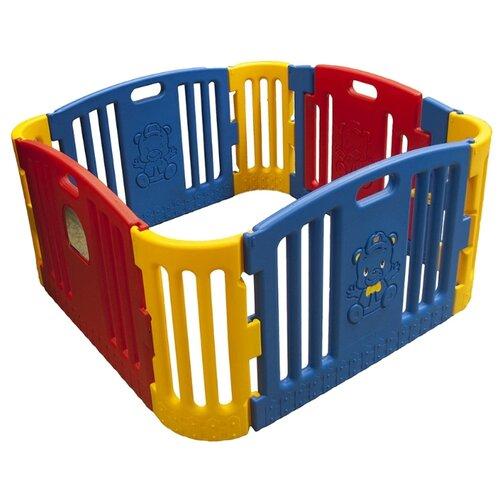 цена на Манеж-ширма Edu-play GP-8011 синий/красный/желтый