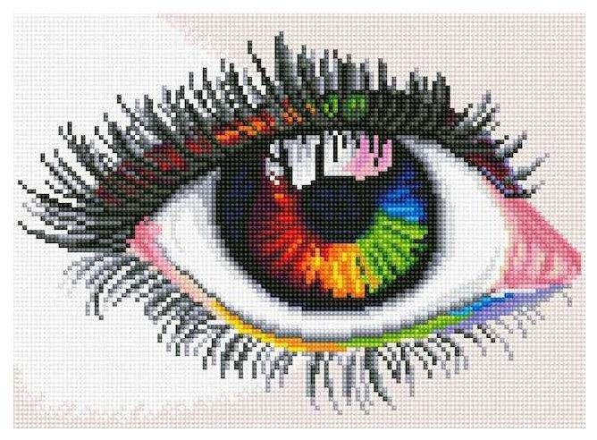 Цветной Набор алмазной вышивки Мир своими глазами (LE036) 30x40 см