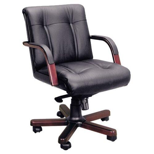 Компьютерное кресло Pointex Paris B офисное, обивка: натуральная кожа, цвет: черный/темный орех компьютерное кресло метта bp 2 pl офисное обивка натуральная кожа цвет 721 черный