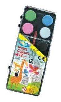 CENTRUM Акварельные краски 12 цветов с кистью (87708)