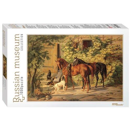 Купить Пазл Step puzzle Русские музеи Лошади у крыльца (79214), 1000 дет., Пазлы