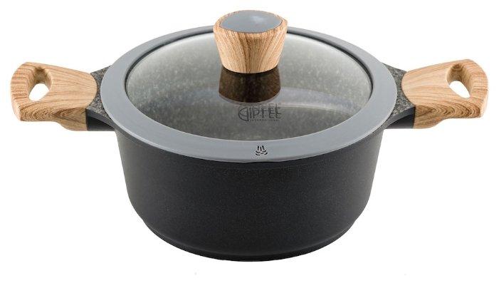 Кастрюля GiPFEL Oliver 0572 4.3 литра, со стеклянной крышкой, GiPFEL (Гипфел)