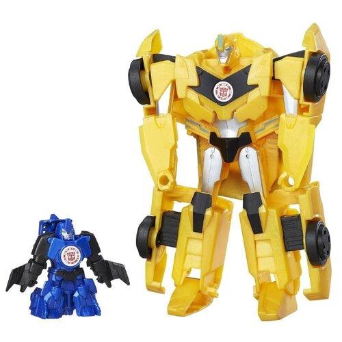 цена на Трансформер Hasbro Transformers Бамблби и Стантвинг. Гирхэд-Комбайнер (Роботы под прикрытием) C0654 желтый/синий