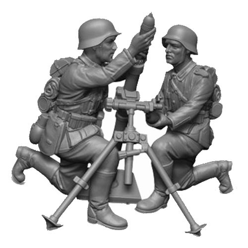 Фото - Сборная модель ZVEZDA Немецкий 81-мм миномет с расчетом 1939-1942 (6111) 1:72 сборная модель zvezda немецкий 81 мм миномет с расчетом 1939 1942 6111 1 72