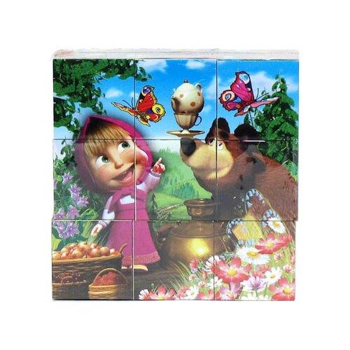 Кубики-пазлы Играем вместе Маша и Медведь 1320
