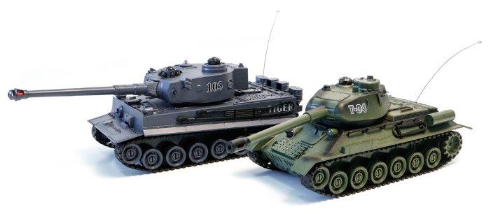 Набор техники Zegan Тигр 1   T-34 (99824) 1:24