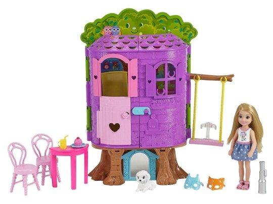 Набор Barbie Домик на дереве Челси, 15 см, FPF83