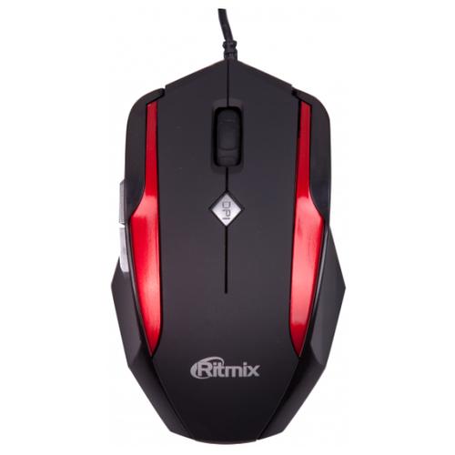 Мышь Ritmix ROM-307 Black-Red USB мышь ritmix rom 303 gaming black