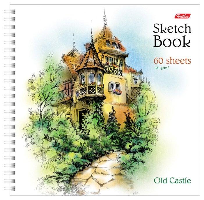 Скетчбук Hatber Старинный замок 29.7 х 21 см (A4), 120 г/м², 60 л.