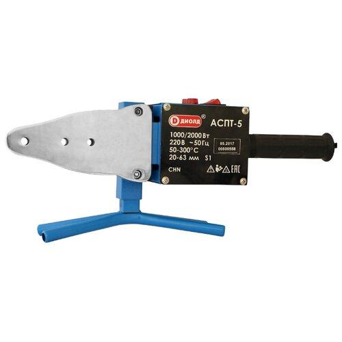 Аппарат для раструбной сварки ДИОЛД АСПТ-5 аппарат для сварки пластика диолд аспт 4 1 5 квт 20 63 мм