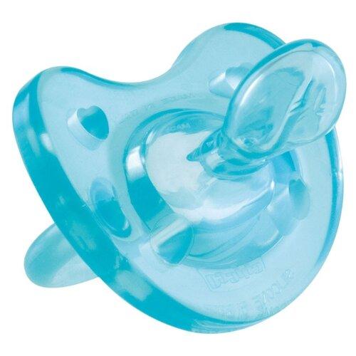 Пустышка силиконовая ортодонтическая Chicco Physio Soft 4+ (1 шт) голубойПустышки и аксессуары<br>