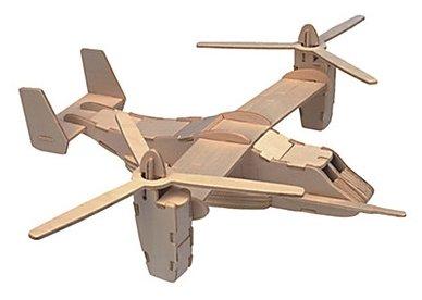 Сборная модель Мир деревянных игрушек Конвертоплан (П038),,