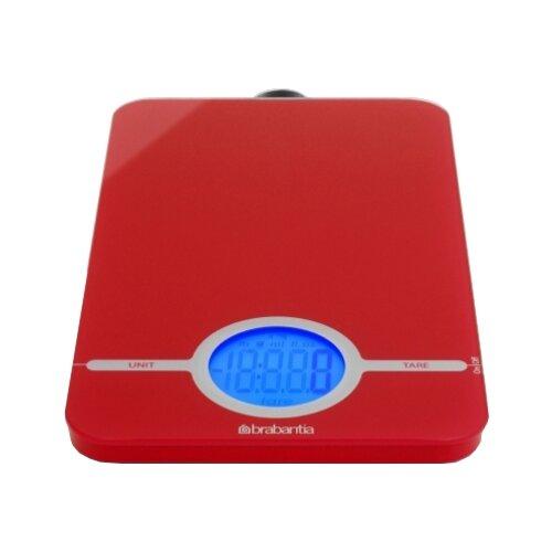Кухонные весы Brabantia 480720/480744 пламенно-красный весы кухонные atlanta красный с чашей