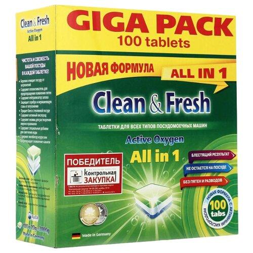 Clean & Fresh All in 1 таблетки для посудомоечной машины 100 шт.Для посудомоечных машин<br>