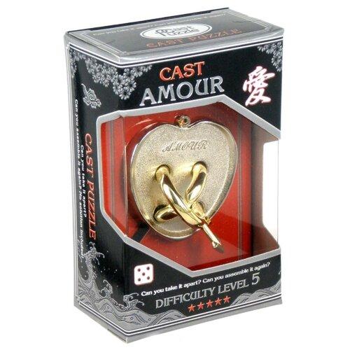 Головоломка Cast Puzzle Amour, уровень сложности 5 (HZ 5-02) серый/желтый головоломка cast puzzle mobius 55208 желтый