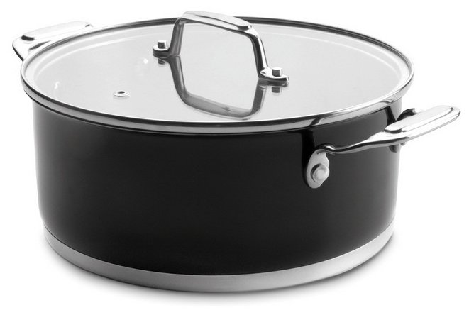 Кастрюля Lacor Cookware Black 4,2 л 24 см