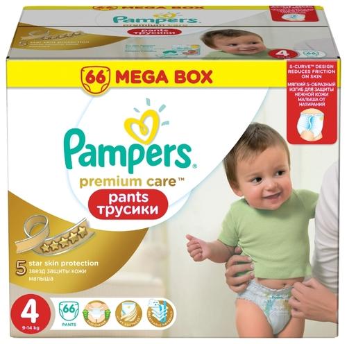 Купить Pampers Premium Care трусики 4 (9-14 кг) 66 шт. по выгодной ... 0936c715986