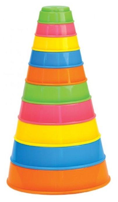 Пирамидка Полесье Занимательная 35042, 10 элементов