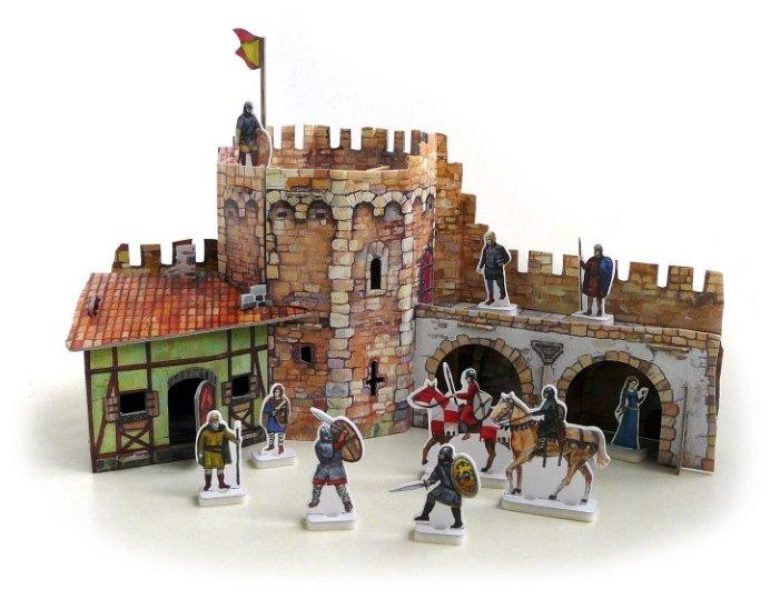 Сборная модель Умная Бумага Угловая башня (253),,