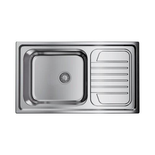 Врезная кухонная мойка 86 см OMOIKIRI Haruna 86-IN нержавеющая сталь врезная кухонная мойка 86 см omoikiri akisame 86 in l нержавеющая сталь