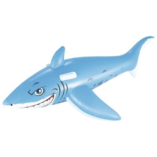 Купить Надувная игрушка-наездник Bestway Большая белая акула 41032 BW голубой, Надувные игрушки