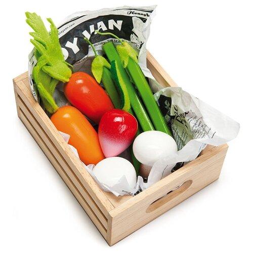 Набор продуктов с посудой Le Toy Van Овощи в ящичке TV182 разноцветный