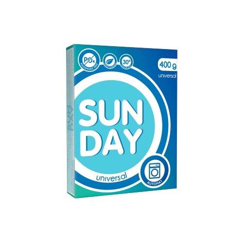 Стиральный порошок SUNDAY Универсал (автомат), 0.4 кг стиральный порошок большая стирка универсал 2 4 кг