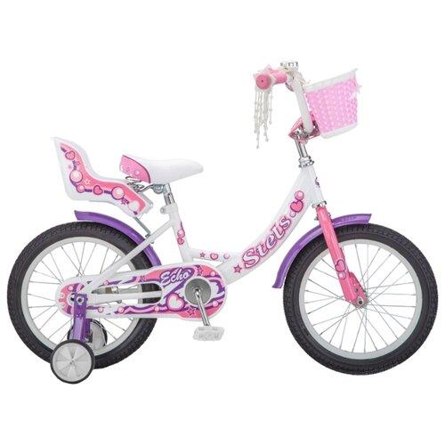 Детский велосипед STELS Echo 16 V020 (2018) белый/розовый (требует финальной сборки)