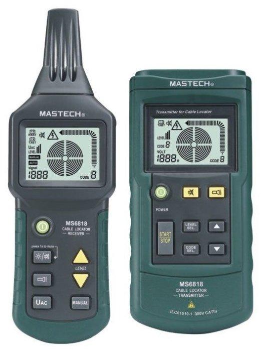 Тестер-детектор скрытой проводки Mastech MS6818
