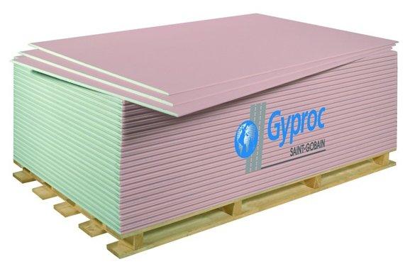 Гипсокартонный лист (ГКЛ) Gyproc ГСП-DF огнестойкий 2500х1200х12.5мм
